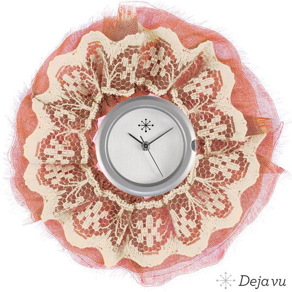 Afbeelding van Sierring van zalm roze stof
