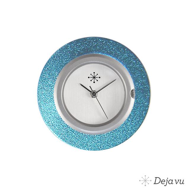 Deja Vu Aluminium blauwe sierring A01-03