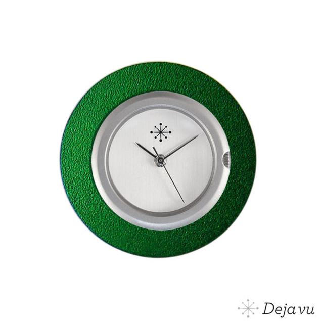 Deja Vu Aluminium groene sierring A01-04