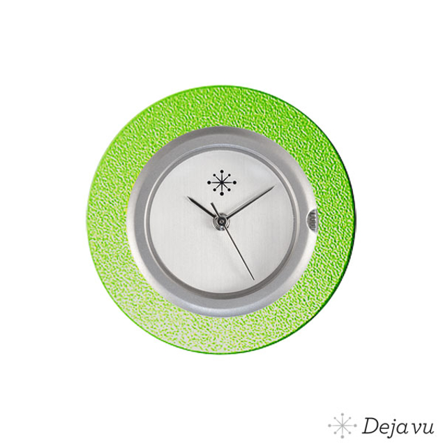 Deja Vu Aluminium groene sierring A01-10