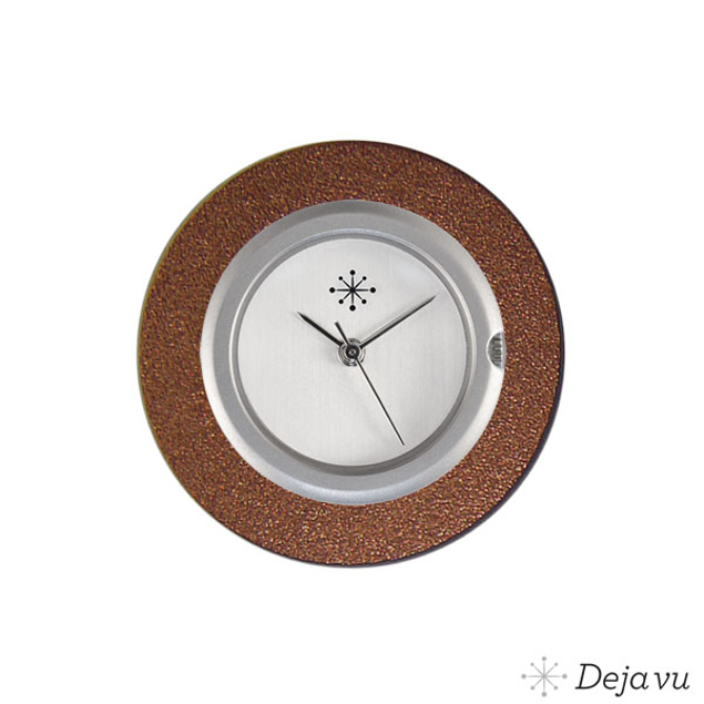 Deja Vu Aluminium bruine sierring A01-19