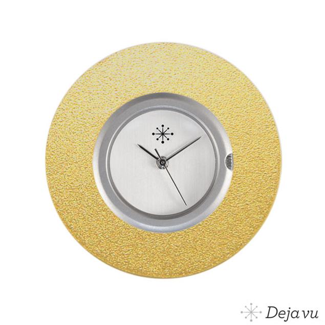 Deja Vu Aluminium gouden sierring A02-02
