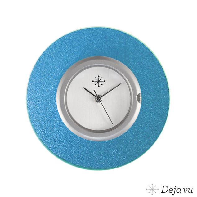 Deja Vu Aluminium blauwe sierring A02-03