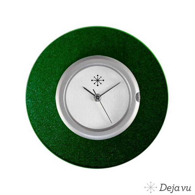 Deja Vu Aluminium groene sierring A02-04