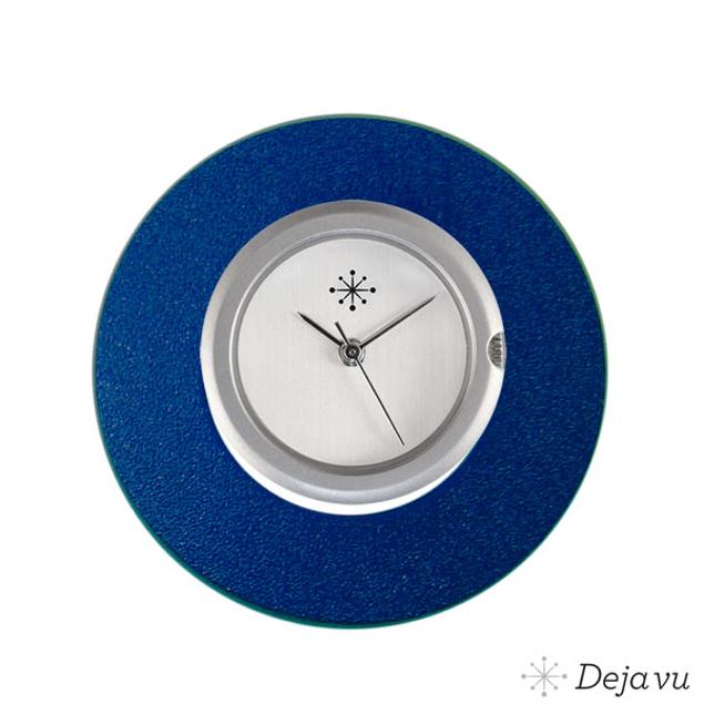 Deja Vu Aluminium blauwe sierring A02-24
