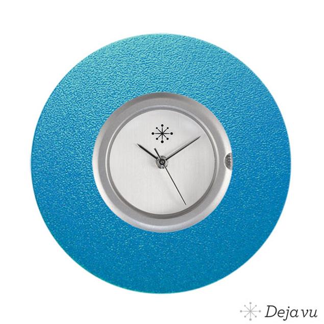 Deja Vu Aluminium blauwe sierring A03-03