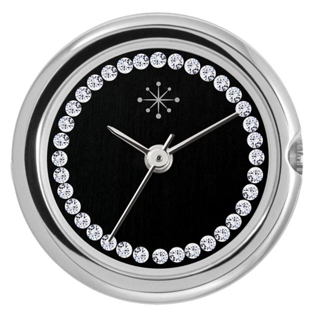 Deja Vu Glans zilver, zwart, Swarovski CS109