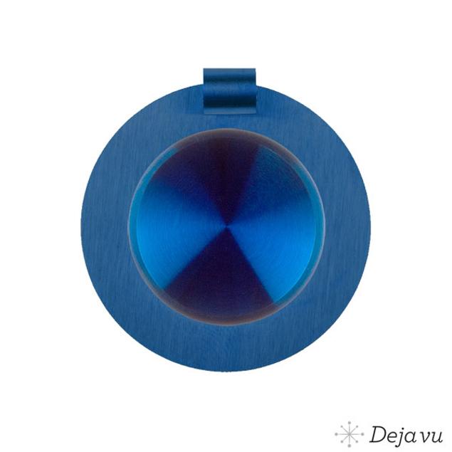 Deja Vu Mat blauw staal