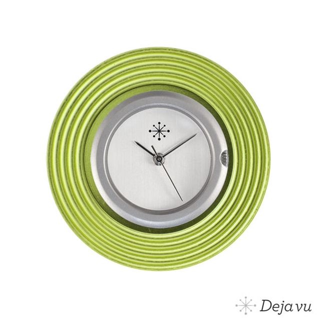 Deja Vu Aluminium groene sierring A 65-18
