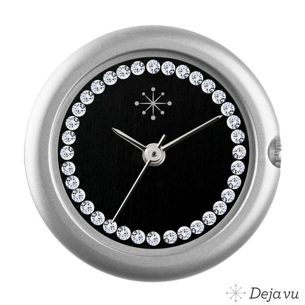 Afbeelding van Mat zilver, zwart, Swarovski CS109m