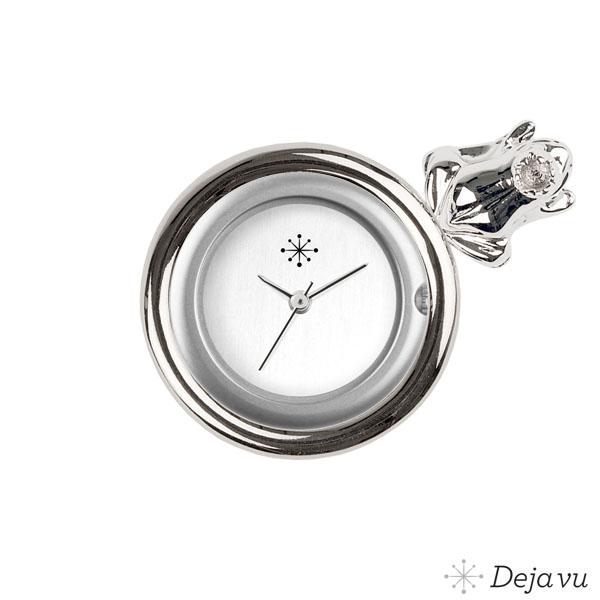 Afbeelding van Gegoten sierring silverkleurig kikker Gu107