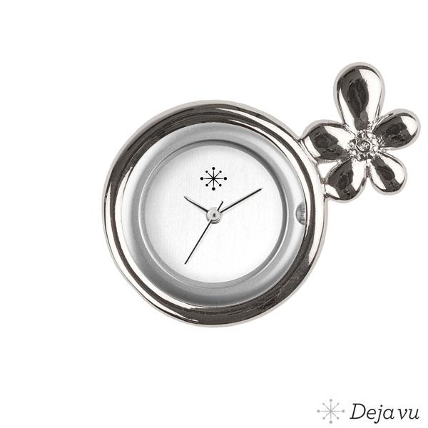 Afbeelding van Gegoten sierring silverkleurig bloem Gu108