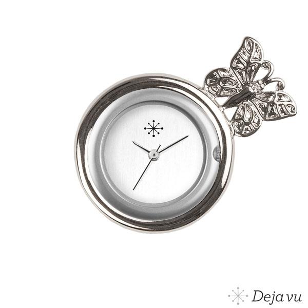 Afbeelding van Gegoten sierring silverkleurig vlinder Gu110